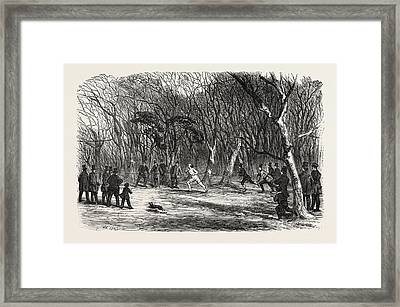 Foot Race At Bayswater, London, Uk Framed Print by English School