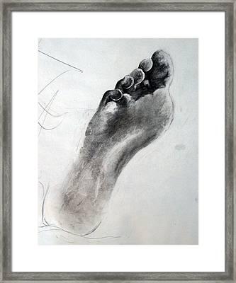 Foot Study Framed Print by Corina Bishop