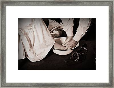Foot Washing Framed Print by Stephanie Grooms