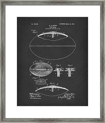 Football 1903 Jacobs Patent Art Black Framed Print