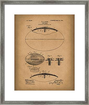 Football 1903 Jacobs Patent Art Brown Framed Print