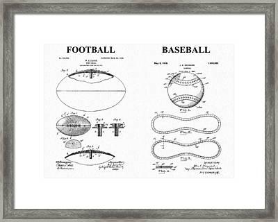 Football Baseball Patent Framed Print