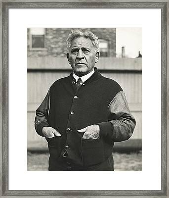 Football Coach Alonzo Stagg Framed Print by Underwood Archives