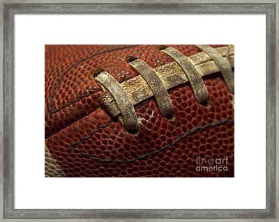 Football Framed Print by Diane Diederich