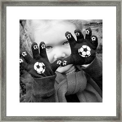 Framed Print featuring the photograph Football Fan by Matthew Ahola