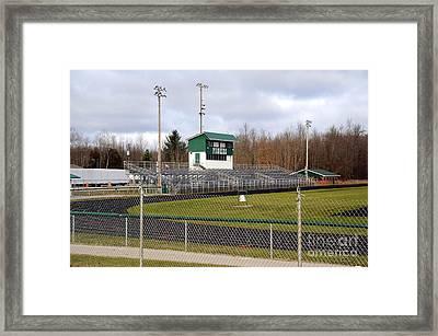 Football Field In Clare Michigan Framed Print by Terri Gostola