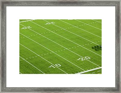Football Field Of Creighton University Framed Print