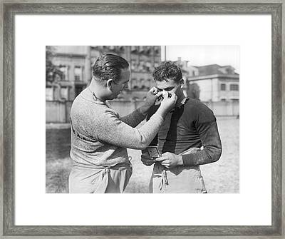 Football First Aid Framed Print by Underwood Archives
