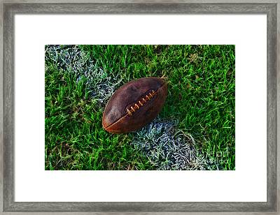 Football - First And Goal Framed Print by Paul Ward
