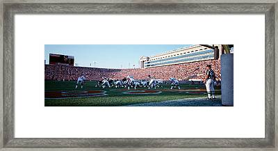 Football Game, Soldier Field, Chicago Framed Print