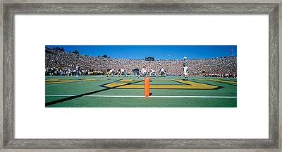 Football Game, University Of Michigan Framed Print by Panoramic Images