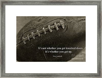 Football Get Up Framed Print by Paul Ward