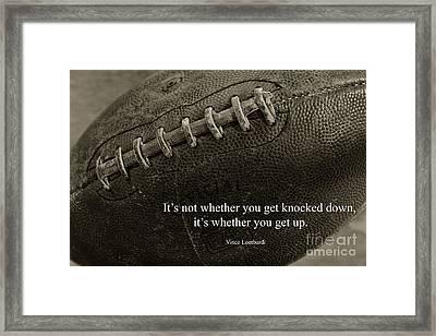 Football Get Up Framed Print