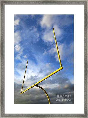 Football Goal Posts Framed Print by Olivier Le Queinec