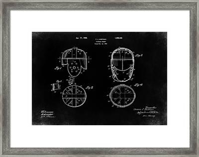 Football Helmet 1926 - Black Framed Print by Mark Rogan