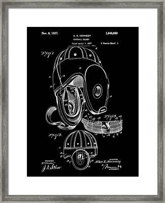 Football Helmet Patent 1927 - Black Framed Print by Stephen Younts