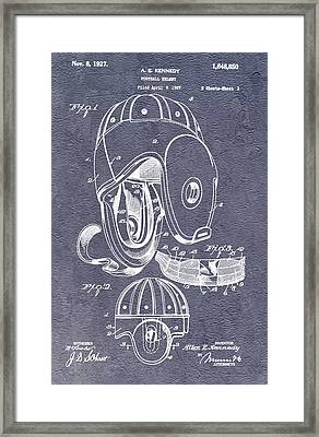 Football Helmet Patent Framed Print
