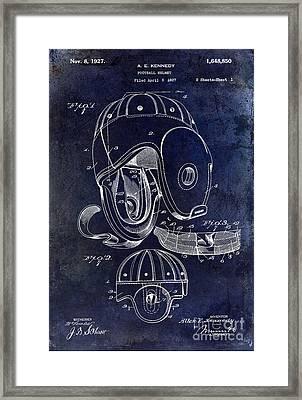 1927 Football Helmet Patent Framed Print by Jon Neidert