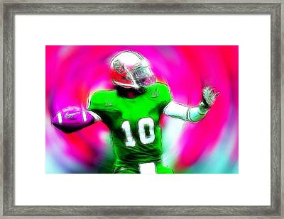 Football Heros Framed Print by Steve K