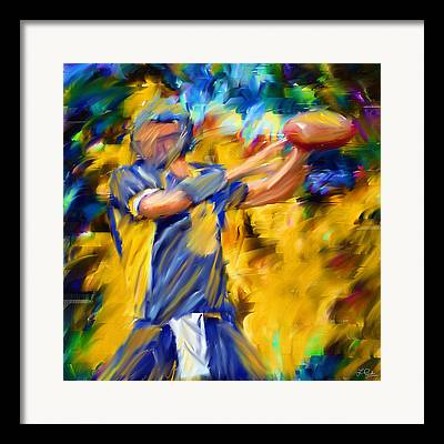Wide Receiver Digital Art Framed Prints