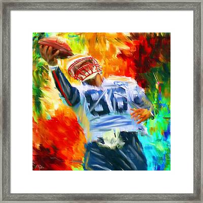 Football II Framed Print by Lourry Legarde
