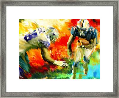 Football IIi Framed Print by Lourry Legarde