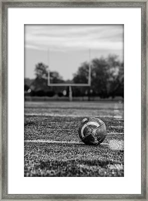 Football In Black And White Framed Print by Bill Cannon