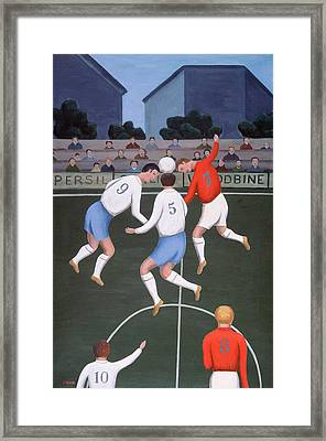 Football Framed Print by Jerzy Marek