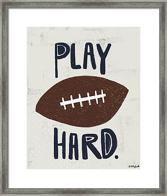 Football Framed Print by Katie Doucette