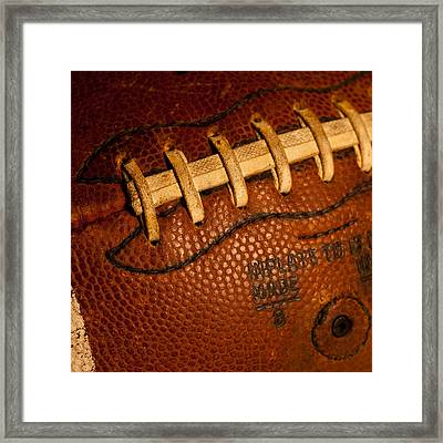 Football Laces Framed Print by David Patterson