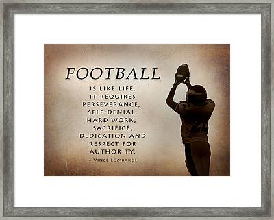 Football Framed Print by Lori Deiter