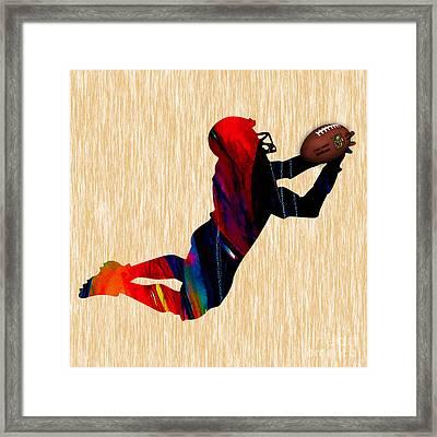 Football Framed Print by Marvin Blaine