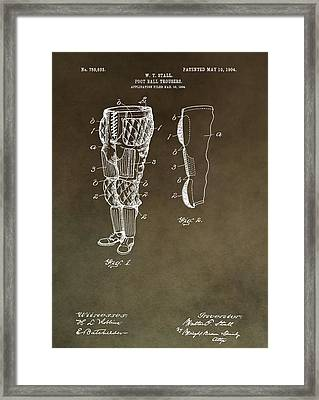 Football Pants Patent Framed Print by Dan Sproul