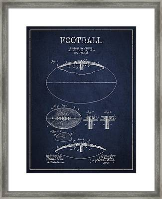 Football Patent Drawing From 1903 Framed Print