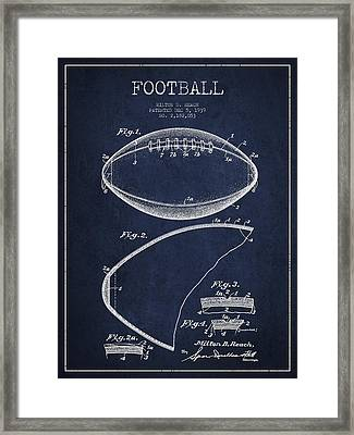 Football Patent Drawing From 1939 Framed Print