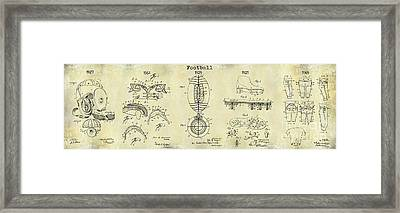 Football Patent History Drawing Framed Print