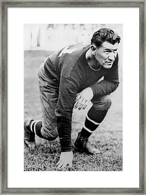 Football Player Jim Thorpe Framed Print by Underwood Archives