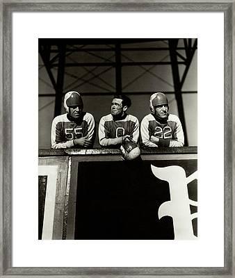 Football Players Framed Print