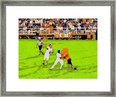Football Pop Art Framed Print