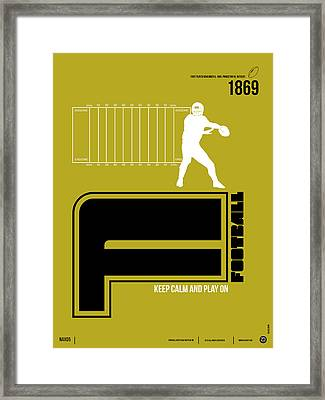 Football Poster Framed Print by Naxart Studio