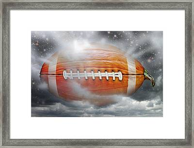 Football Pumpkin Framed Print