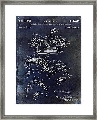 Football Shoulder Pads Framed Print by Jon Neidert