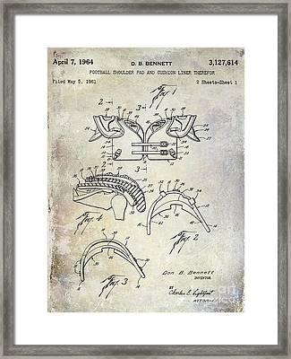 Football Shoulder Pads Patent Framed Print