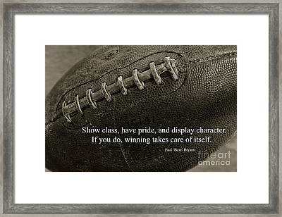 Football Show Class Framed Print by Paul Ward