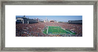 Football, Soldier Field, Chicago Framed Print