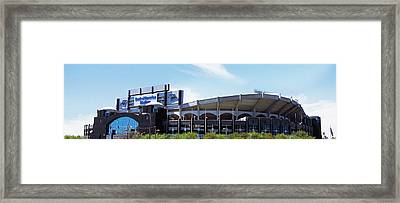 Football Stadium In A City, Bank Framed Print