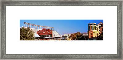 Football Stadium In A City, Darrell K Framed Print