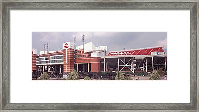 Football Stadium, Papa Johns Cardinal Framed Print