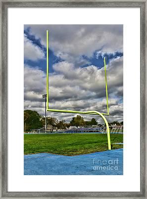 Football - The Goal Post Framed Print by Paul Ward