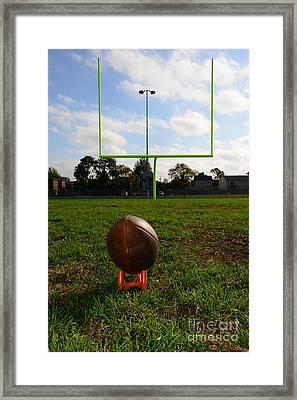 Football - The Kickoff Framed Print by Paul Ward